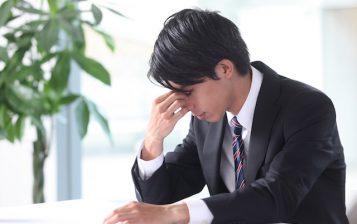 疲れてるビジネスマン